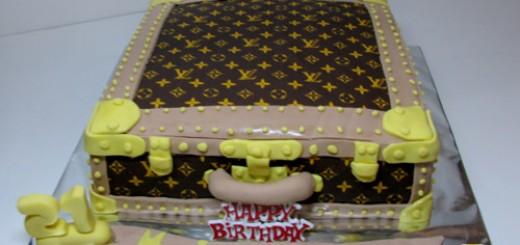 Louis Vuitton Case Birthday Cake