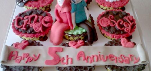 5th Anniversary Cupcake