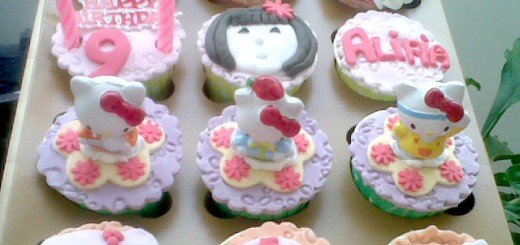 Princess Kitty Birthday Cupcake