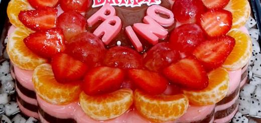 Fruit Birthday Puding