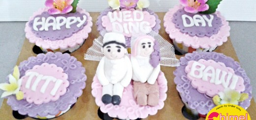 Purple Wedding Cupcake's Titi & Bawi