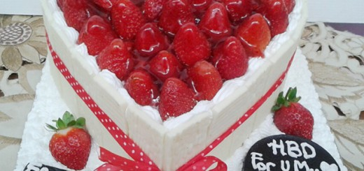 Strawberry Birhday Cake