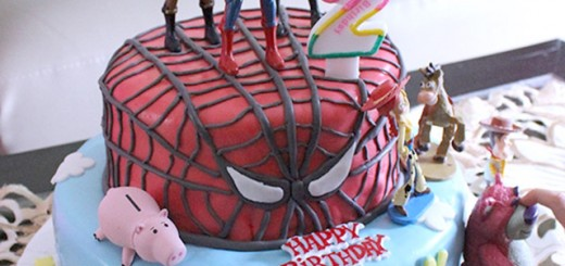 Spiderman and Toy Story Birthday Cake's Raihan